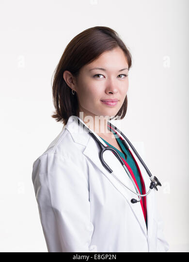 Young doctor / nurse / medical student - Stock Image