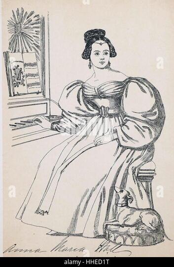 Anna Maria HALL {1800-1881), Irish-born English novelist. - Stock Image