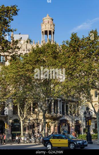 A modernist building by Lluís Domènech i Montaner, Passeig de Gracia Casa Leo Morera - Stock Image