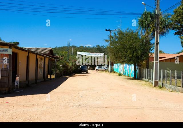 Povoado de São Jorge, Street Scene, Chapada dos Veadeiros, Goiás, Brazil, South America - Stock Image