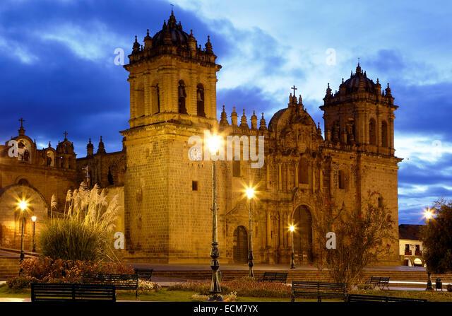 Cusco Cathedral (Nuestra Sra. de la Asuncion) and Plaza de Armas, Cusco, Peru - Stock-Bilder