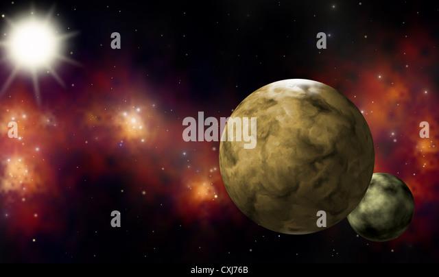 extra solar planetary system - Stock Image