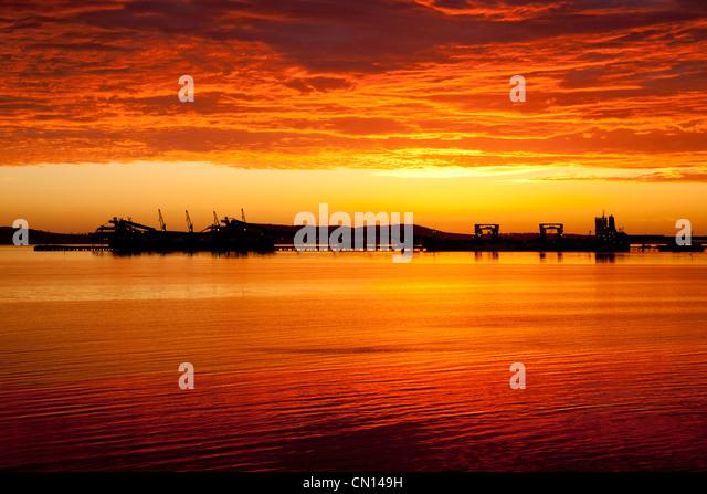 Dawn at foreshore. Port Lincoln. Eyre Peninsula South Australia - Stock Image