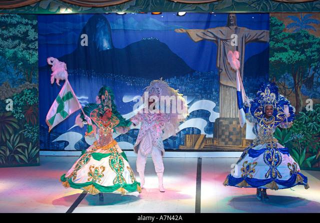 Brazil Rio de Janeiro Samba Show in Leblon Plataforma Uno Club  - Stock Image