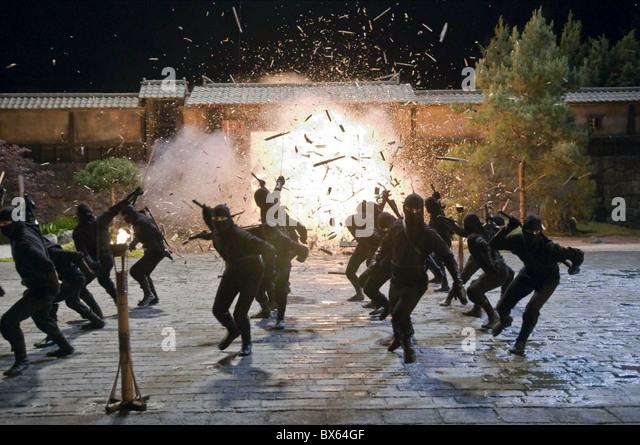 EXPLOSION SCENE NINJA ASSASSIN (2009) - Stock Image