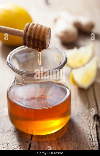 honey lemon and ginger - Stock Image