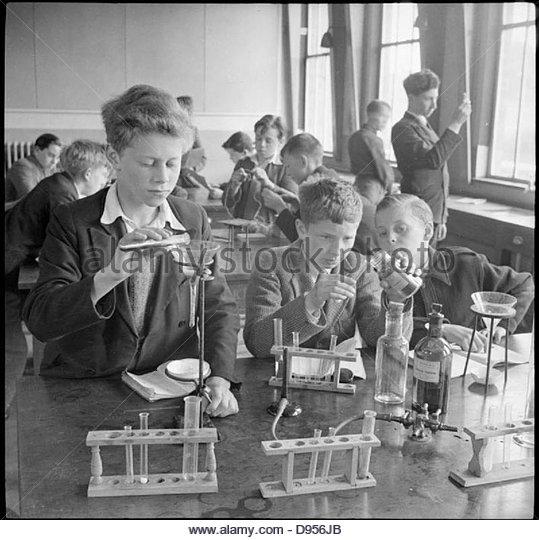 Country School- Everyday Life at Baldock County Council School, Baldock, Hertfordshire, England, UK, 1944 D20555 - Stock Image