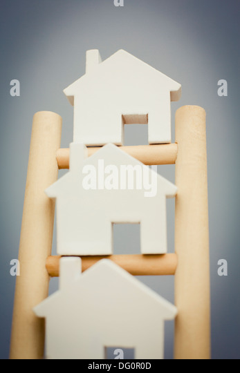 Concept Image To Illustrate Property Ladder - Stock-Bilder