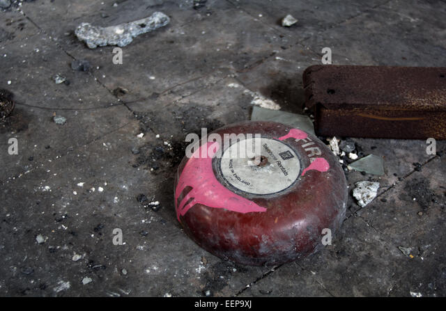 Ironic - A Charred Fire Bell - Stock Image