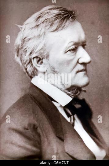Richard Wagner (1813-1883) German composer, studio photograph circa 1873. - Stock-Bilder