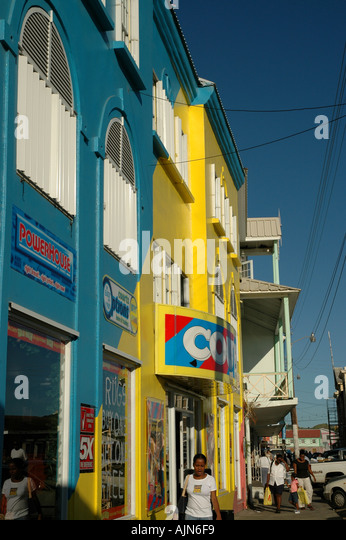 St Kitts West Indies Caribbean Basseterre Shopping - Stock Image