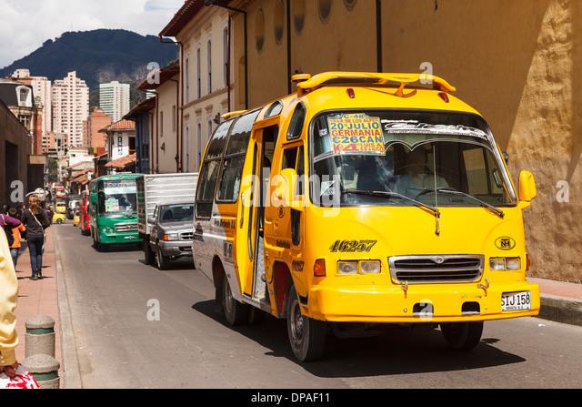 Bus, Bogota, Colombia, America - Stock Image