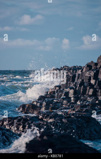The Giant's Causeway, County Antrim, Northern Ireland - Stock Image