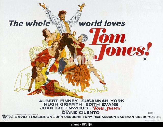 FILM POSTER TOM JONES (1963) - Stock-Bilder