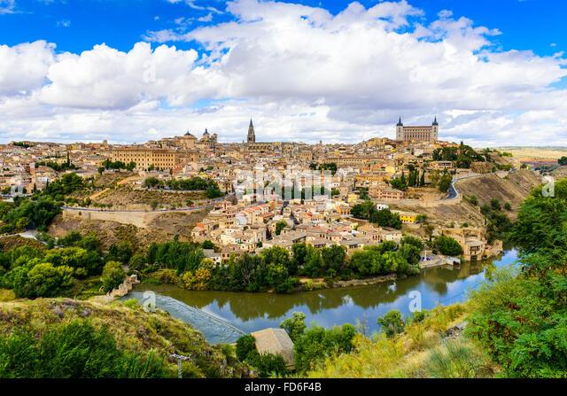 Toledo, Spain old town skyline. - Stock Image