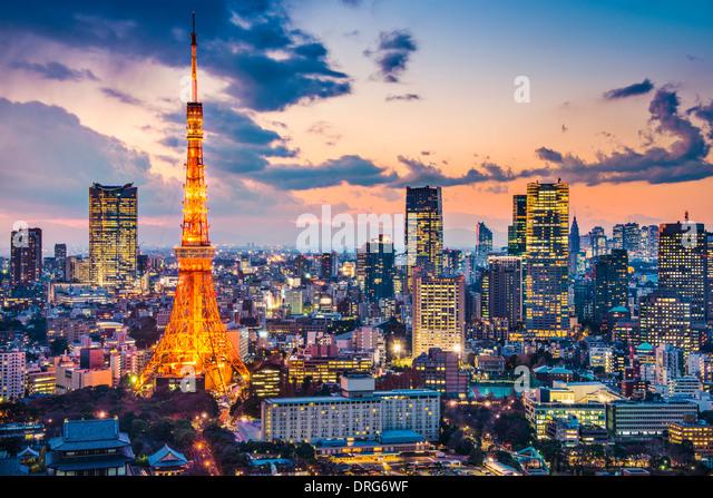 Tokyo, Japan at Tokyo Tower - Stock Image