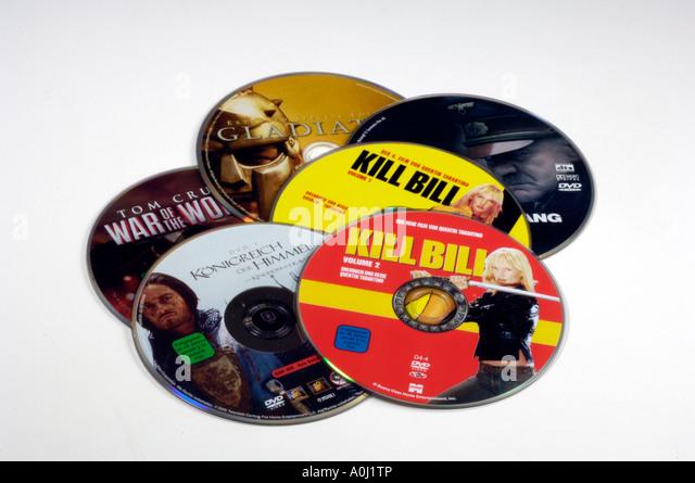 DVD movies - Stock Image