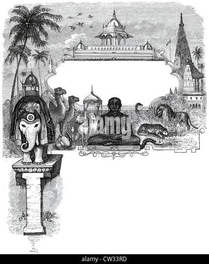 Indian mythology - Stock Image