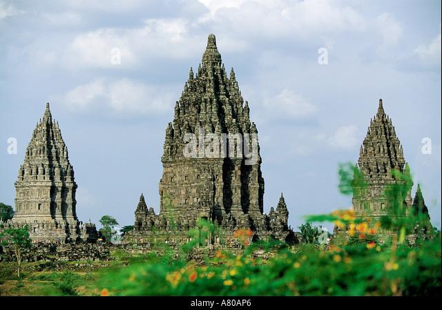 Indonesia, Java, Prambanan, Loro Jonggrang temple - Stock Image
