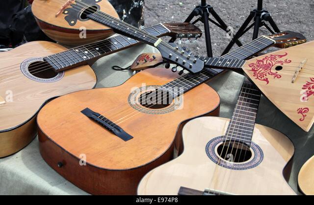 guitar and balalaika - Stock Image
