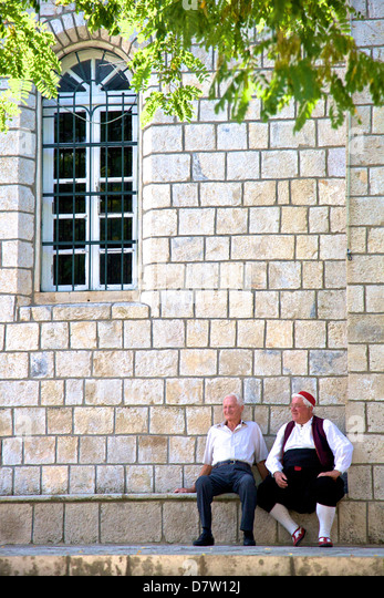 Konavle traditional costume, Cilipi, Croatia - Stock Image