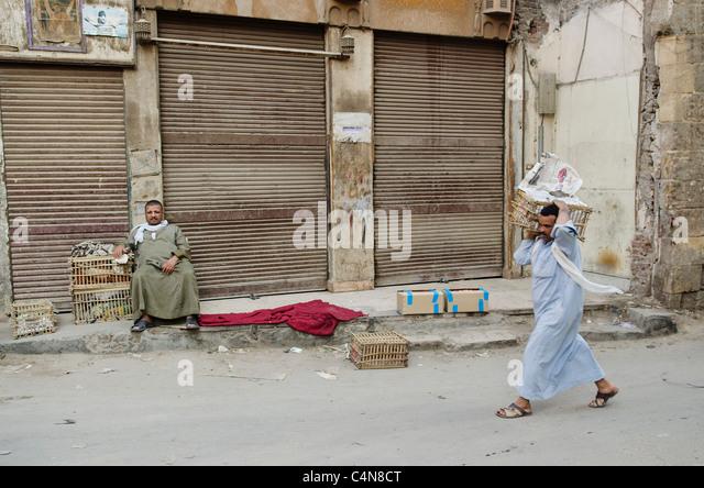 street scene in cairo old town egypt - Stock Image
