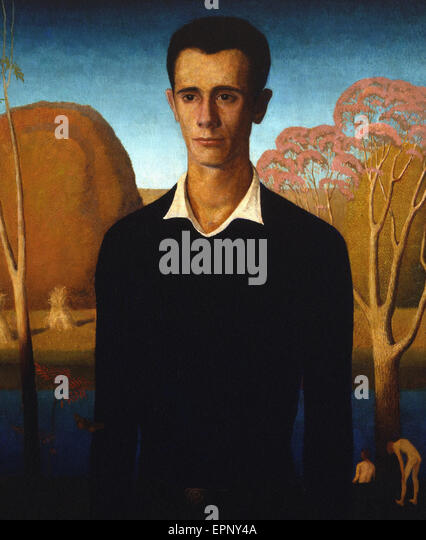 Grant Wood  Arnold Comes of Age - Stock Image