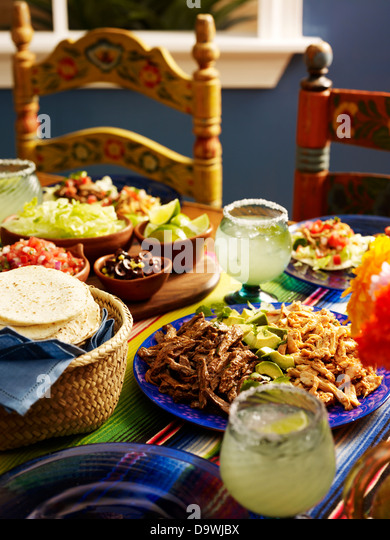 traditional mexican food - Stock Image