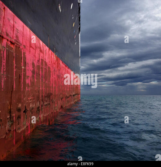 Greece, Attica Periphery, Saronikos, Tanker - Stock Image