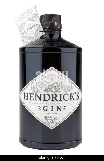 70 cl bottle of Hendricks distilled gin 41.4% alcohol - Stock Image