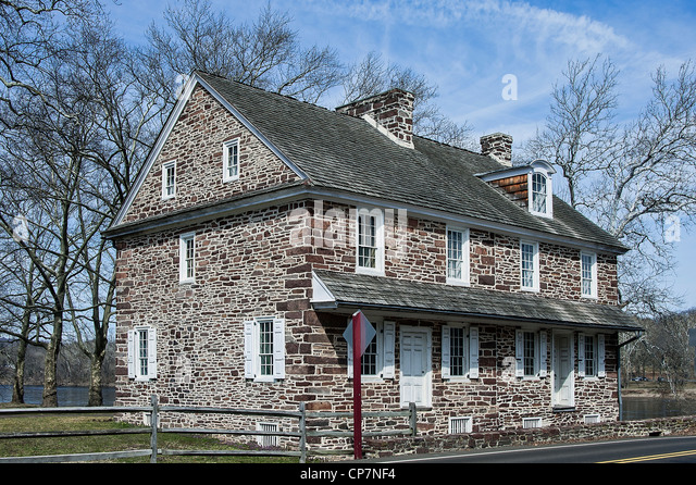 McConkey's Ferry Inn, Washington Crossing Park, PA, Pennsylvania, USA - Stock Image