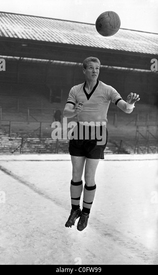 Wolverhampton Wanderers footballer Ron Flowers at Molineux January 1959. - Stock Image