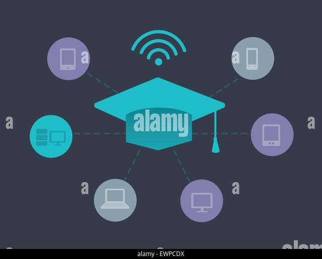 Illustrative image representing online education concepts - Stock Image