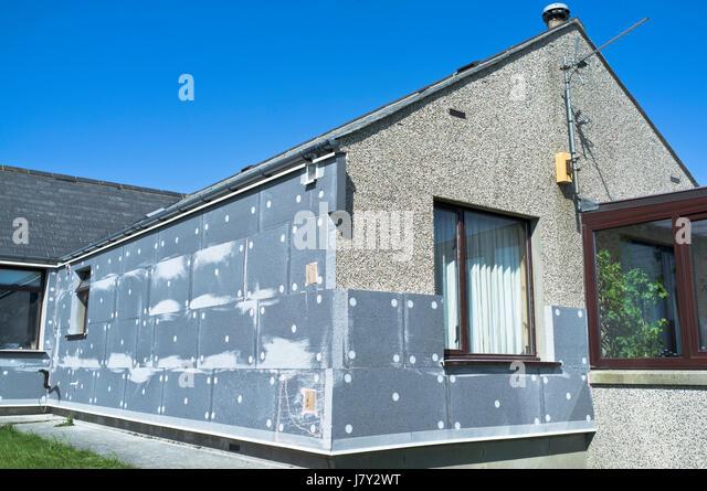 External wall insulation stock photos external wall for Exterior insulation