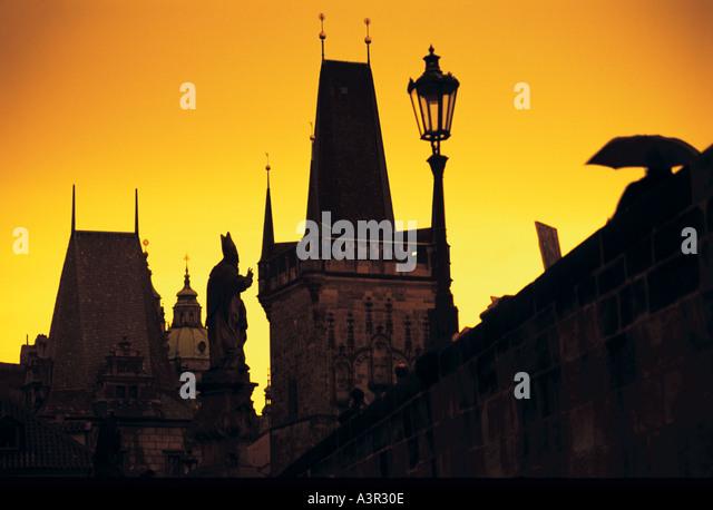 Charles Bridge Prague Czech Republic - Stock-Bilder