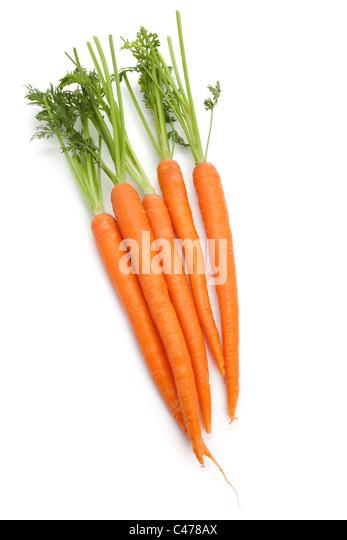 Carrot with white background - Stock Image