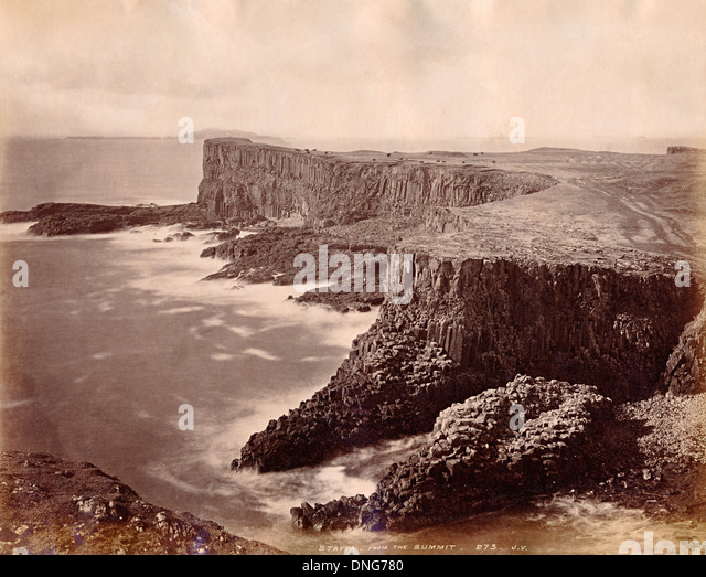 Staffa, Scotland, UK about 1890 - Stock Image