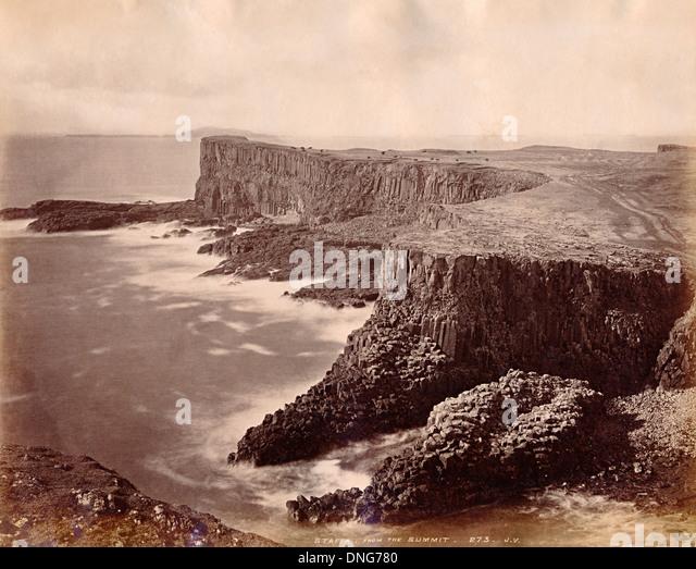 Staffa, Scotland, UK about 1890 - Stock-Bilder