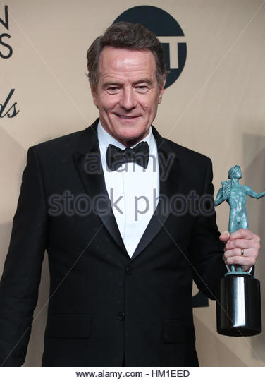 Los Angeles CA - JANUARY 29 Bryan Cranston, At 23rd Annual Screen Actors Guild Awards - Press Room, At Shrine Auditorium - Stock Image