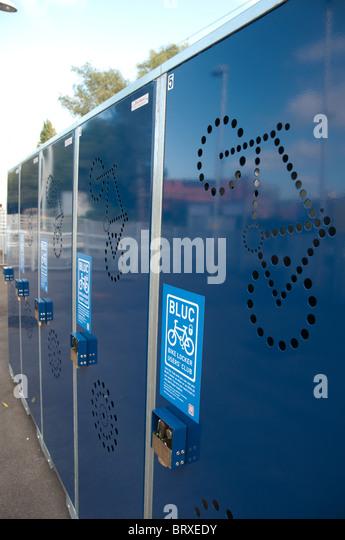 Bike Lockers Stock Photos Amp Bike Lockers Stock Images Alamy