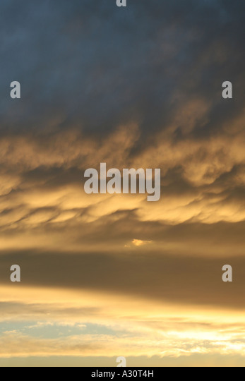 stormy evening sky - Stock Image