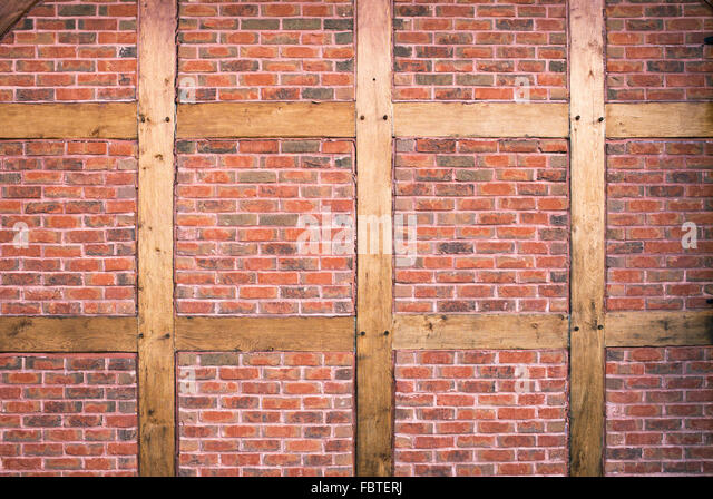 Masonry Building Framed : Housebrick stock photos images alamy