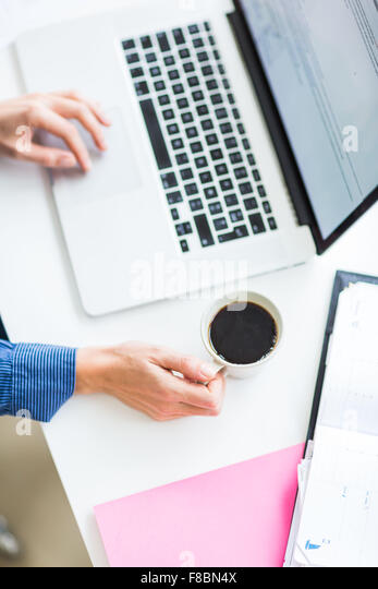 Women drinking coffee. - Stock Image