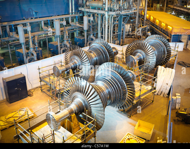 Turbines in power station - Stock Image