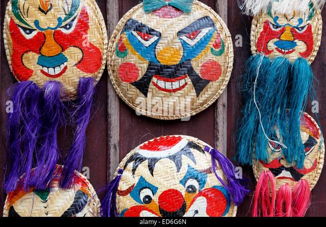 Traditional Vietnamese masks for sale, Temple of Literature, Hanoi, Vietnam - Stock-Bilder