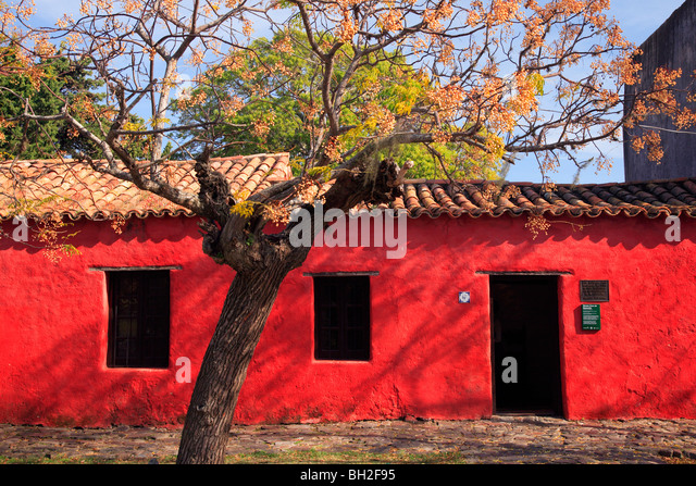 Antique museum house at Colonia del sacramento. Uruguay, south america. - Stock Image