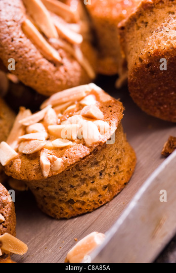Small soft almond cakes - Stock Image