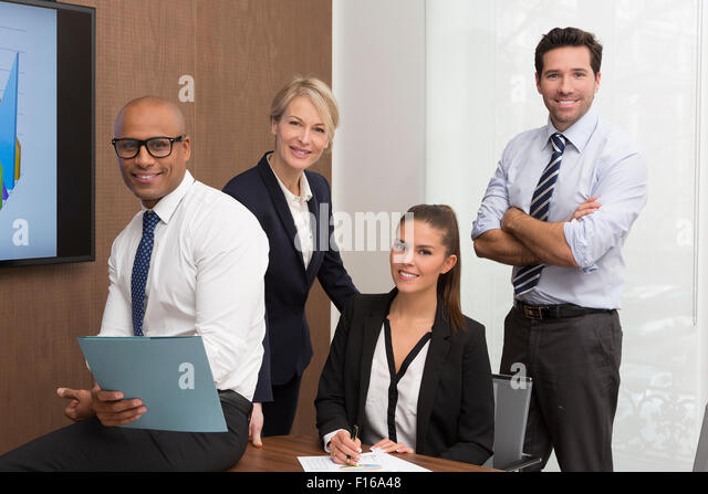 Portrait of a business people group - Stock Image