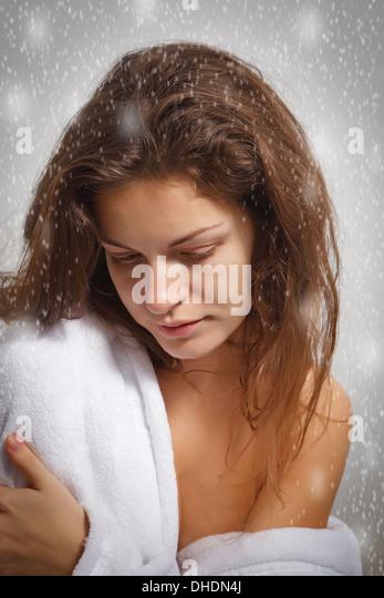 Winter depression - Stock Image