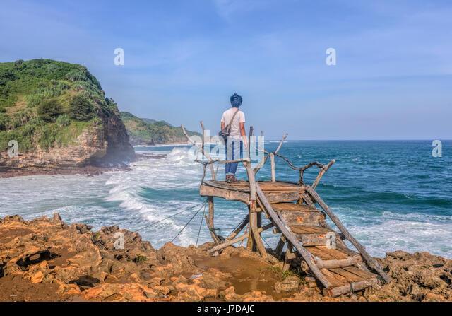 view point at Timang beach, Yogyakarta, Java, Indonesia, Asia - Stock-Bilder